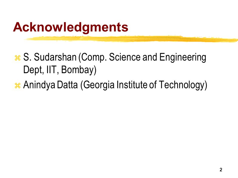 Acknowledgments S. Sudarshan (Comp.