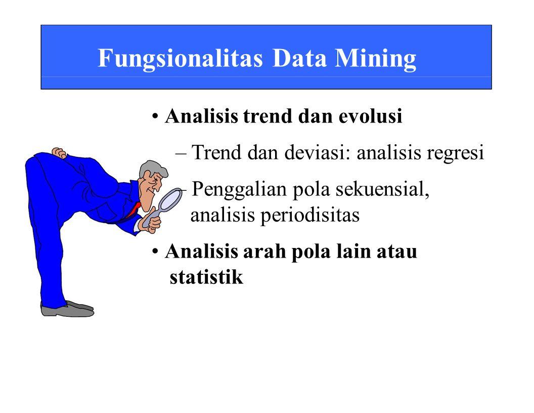 Fungsionalitas Data Mining • Analisis trend dan evolusi