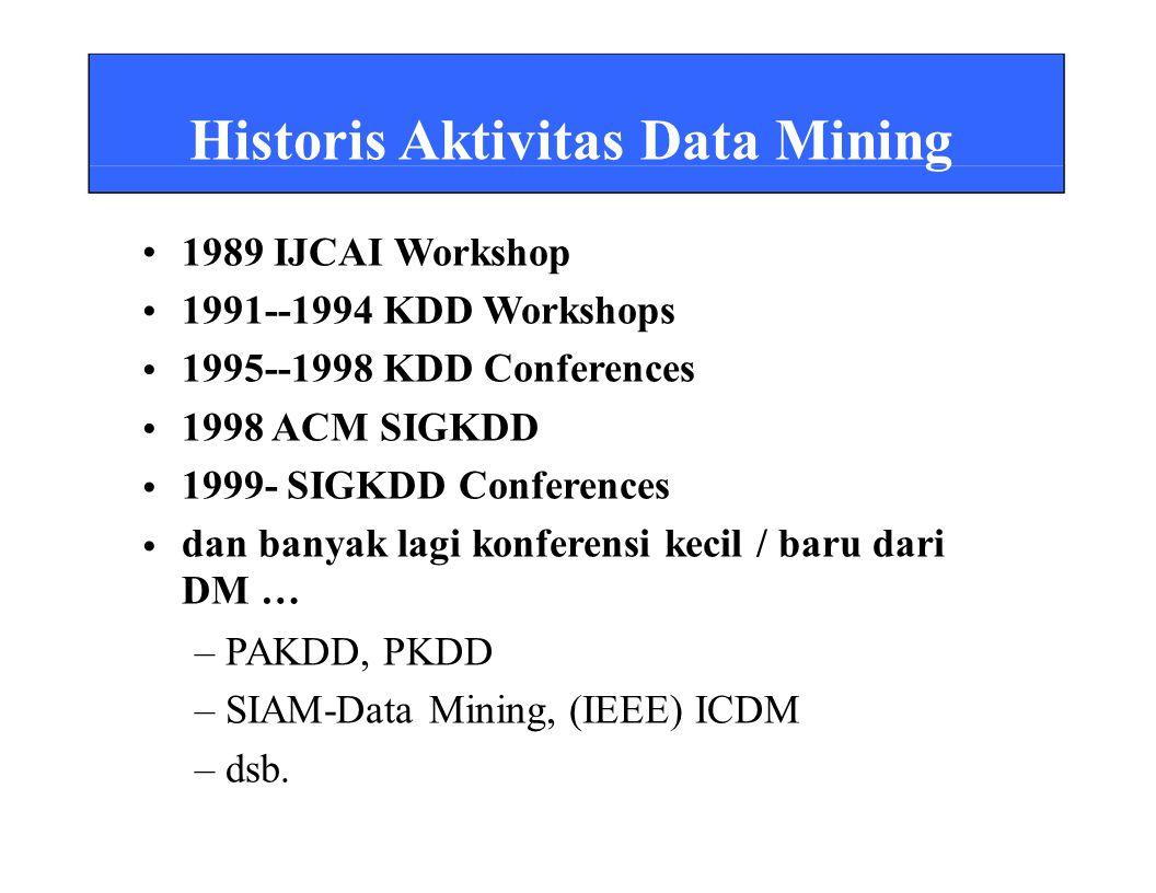 dan banyak lagi konferensi kecil / baru dari DM … – PAKDD, PKDD