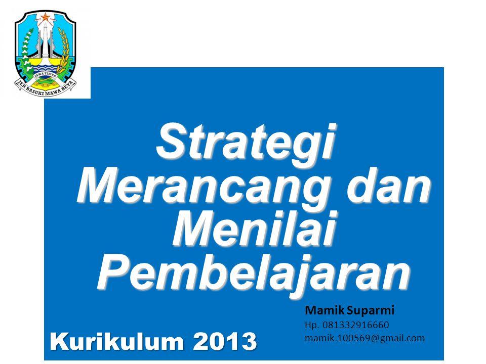 Strategi Merancang dan Menilai Pembelajaran