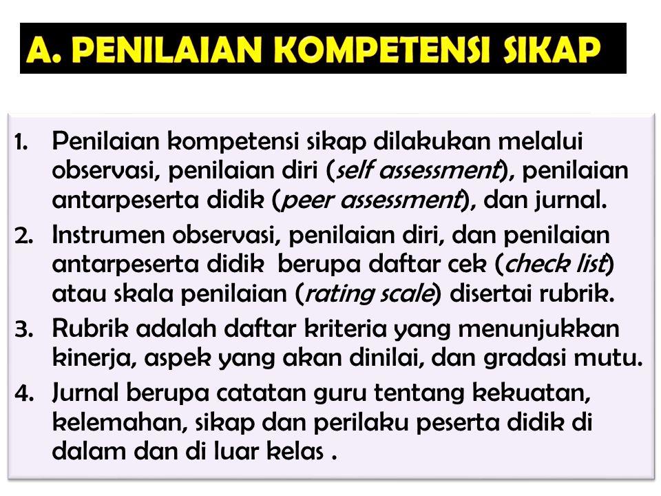 A. PENILAIAN KOMPETENSI SIKAP