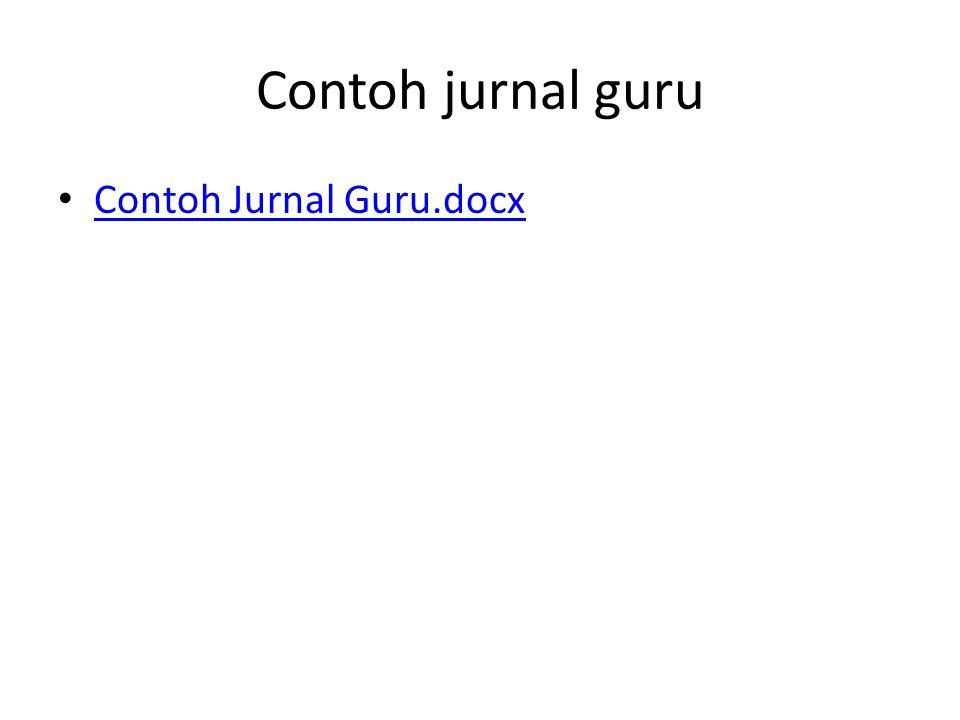 Contoh jurnal guru Contoh Jurnal Guru.docx