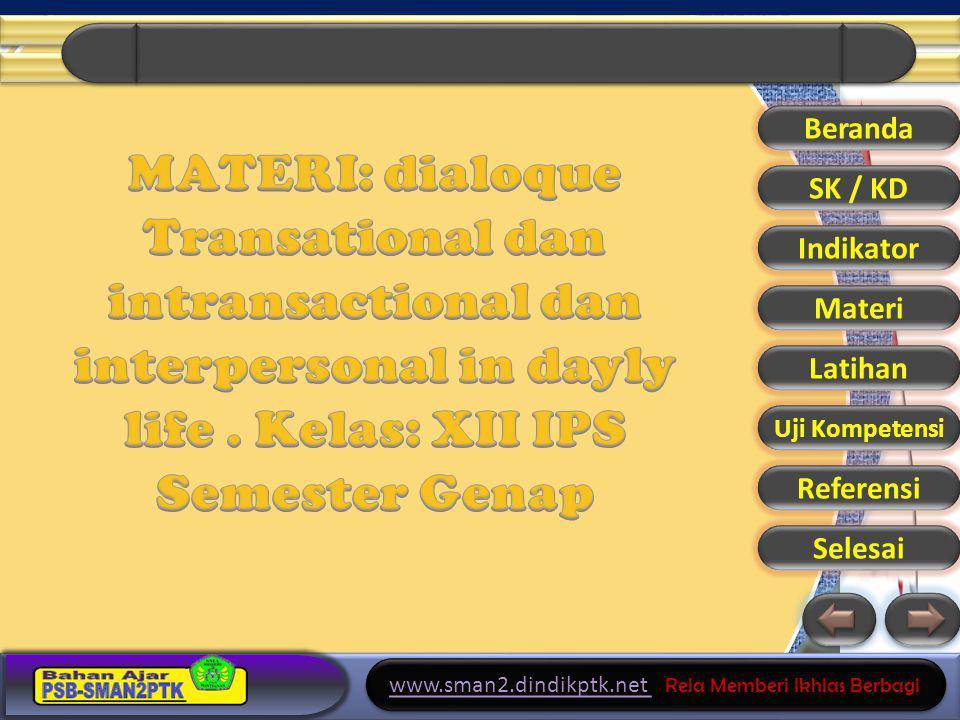 www.sman2.dindikptk.net Rela Memberi Ikhlas Berbagi