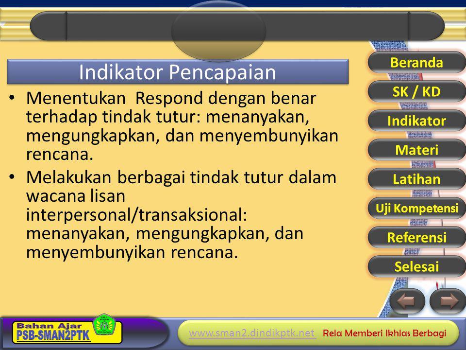 Beranda Indikator Pencapaian. SK / KD.