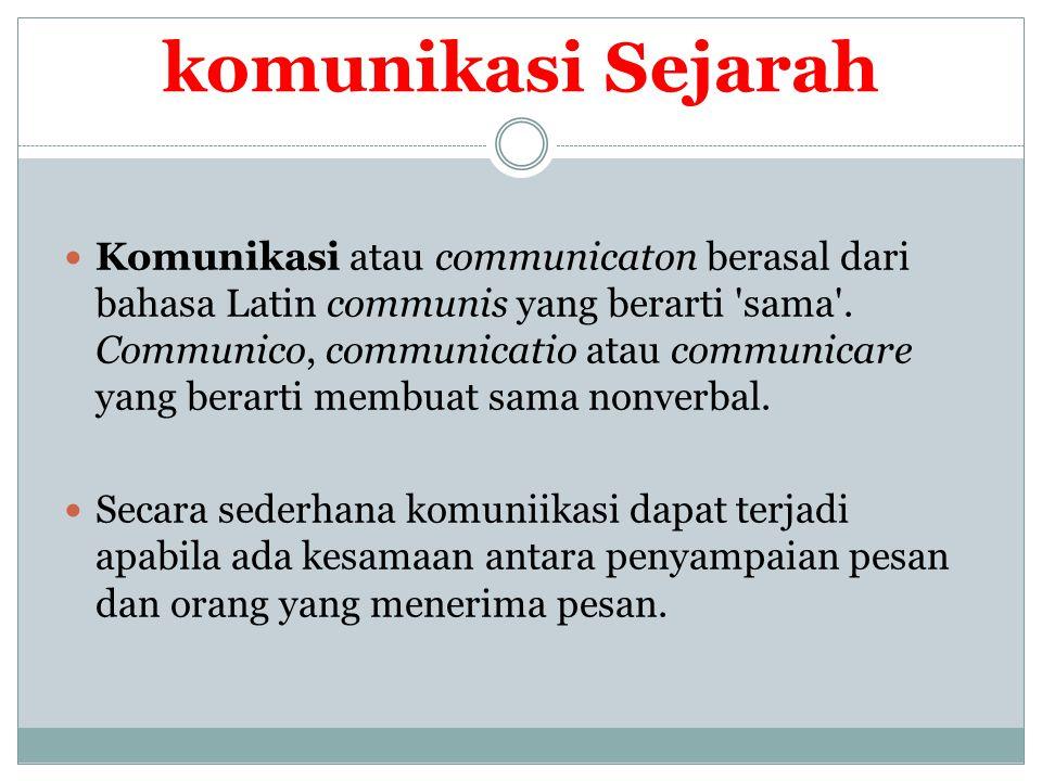 komunikasi Sejarah