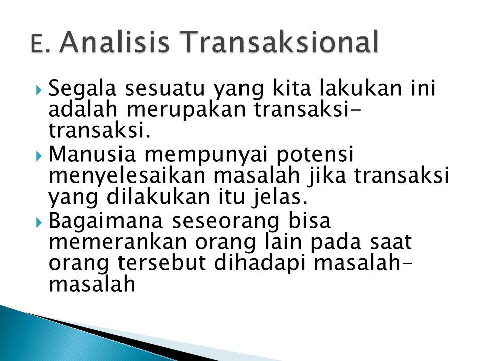E. Analisis Transaksional