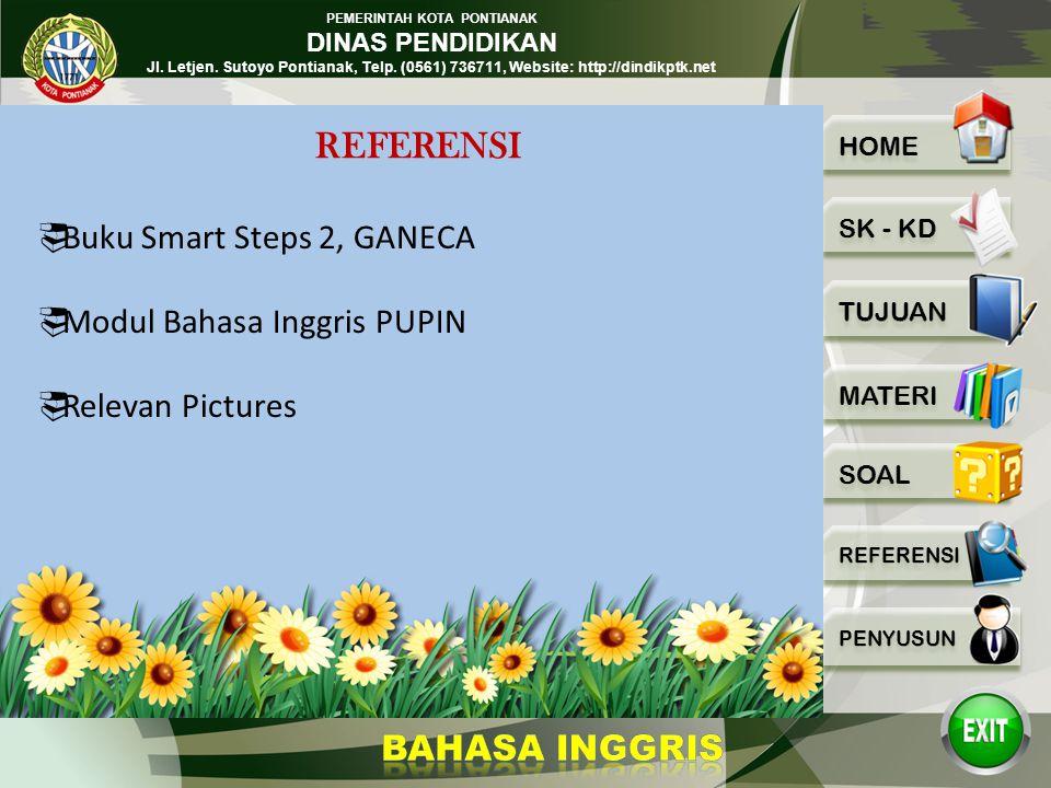 REFERENSI Buku Smart Steps 2, GANECA Modul Bahasa Inggris PUPIN