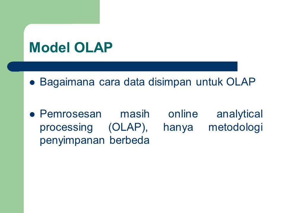 Model OLAP Bagaimana cara data disimpan untuk OLAP