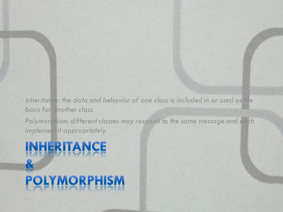 Inheritance & Polymorphism