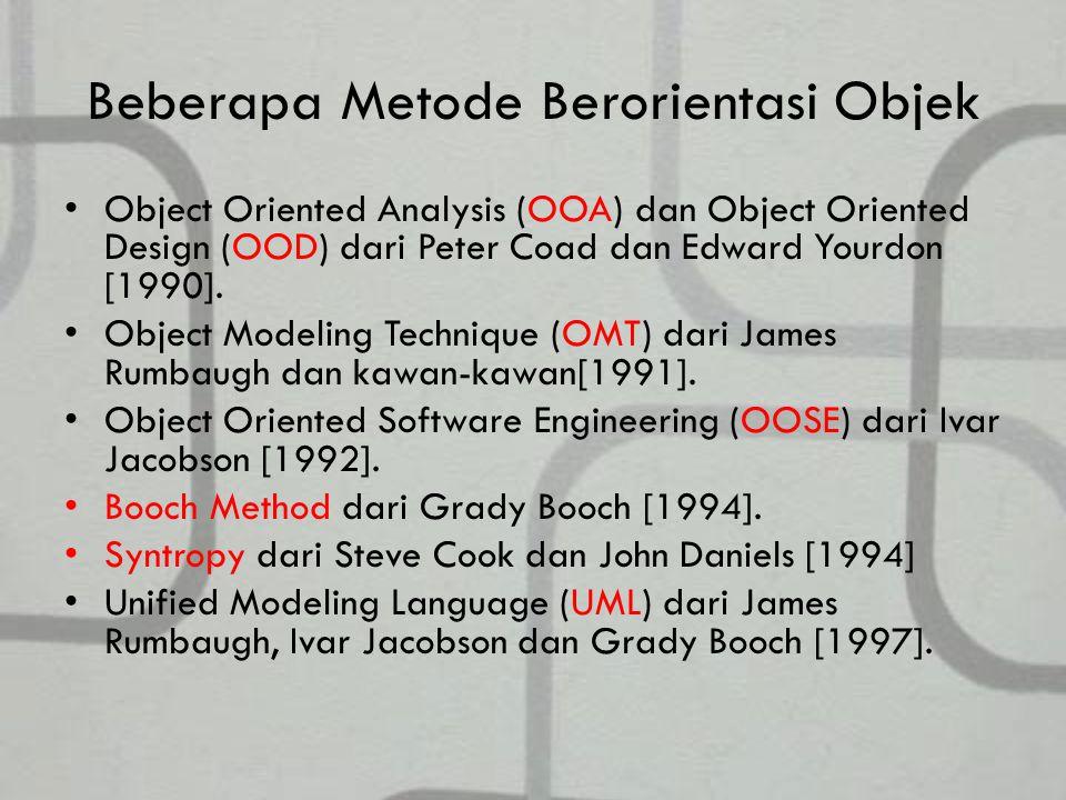 Beberapa Metode Berorientasi Objek