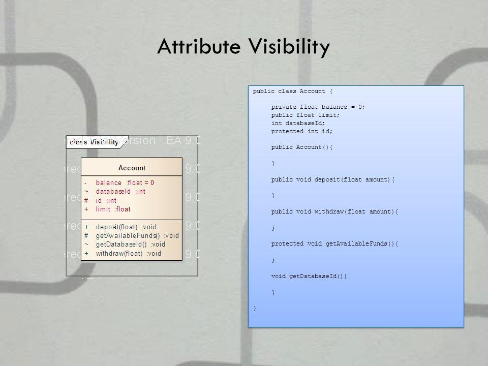 Attribute Visibility