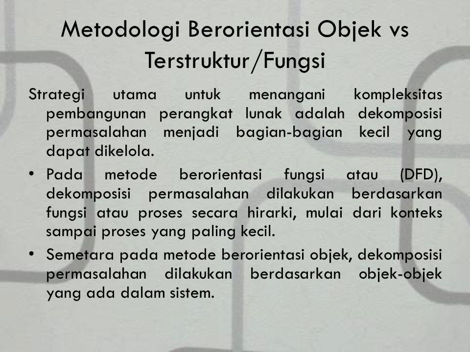 Metodologi Berorientasi Objek vs Terstruktur/Fungsi