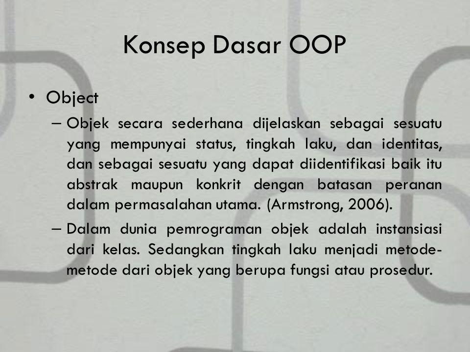 Konsep Dasar OOP Object