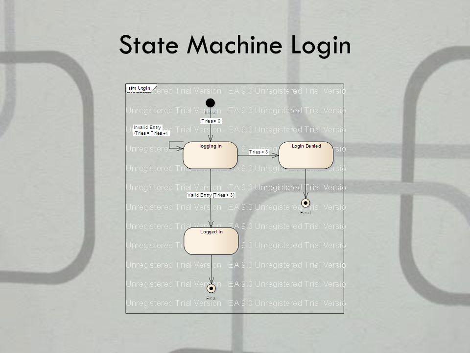 State Machine Login