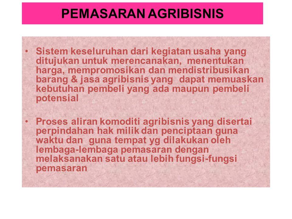 PEMASARAN AGRIBISNIS