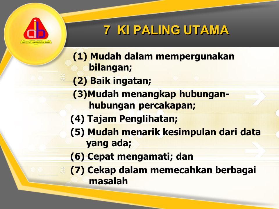 7 KI PALING UTAMA