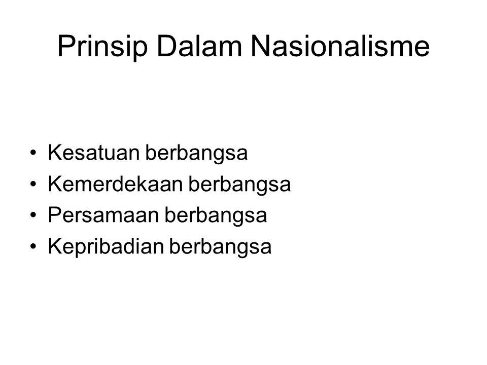 Prinsip Dalam Nasionalisme