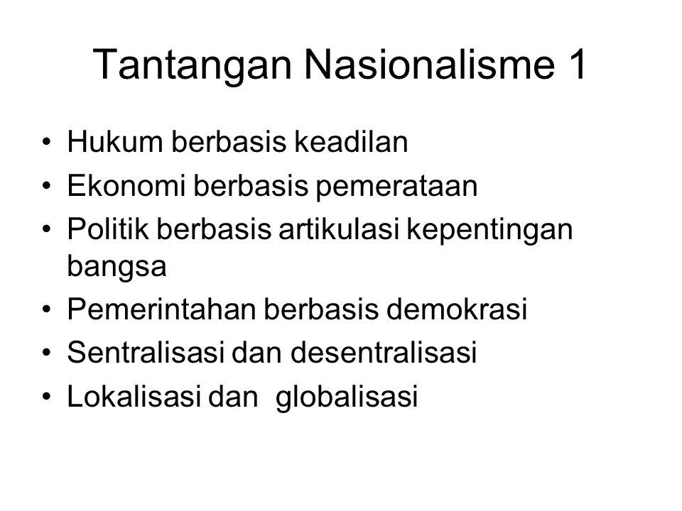 Tantangan Nasionalisme 1