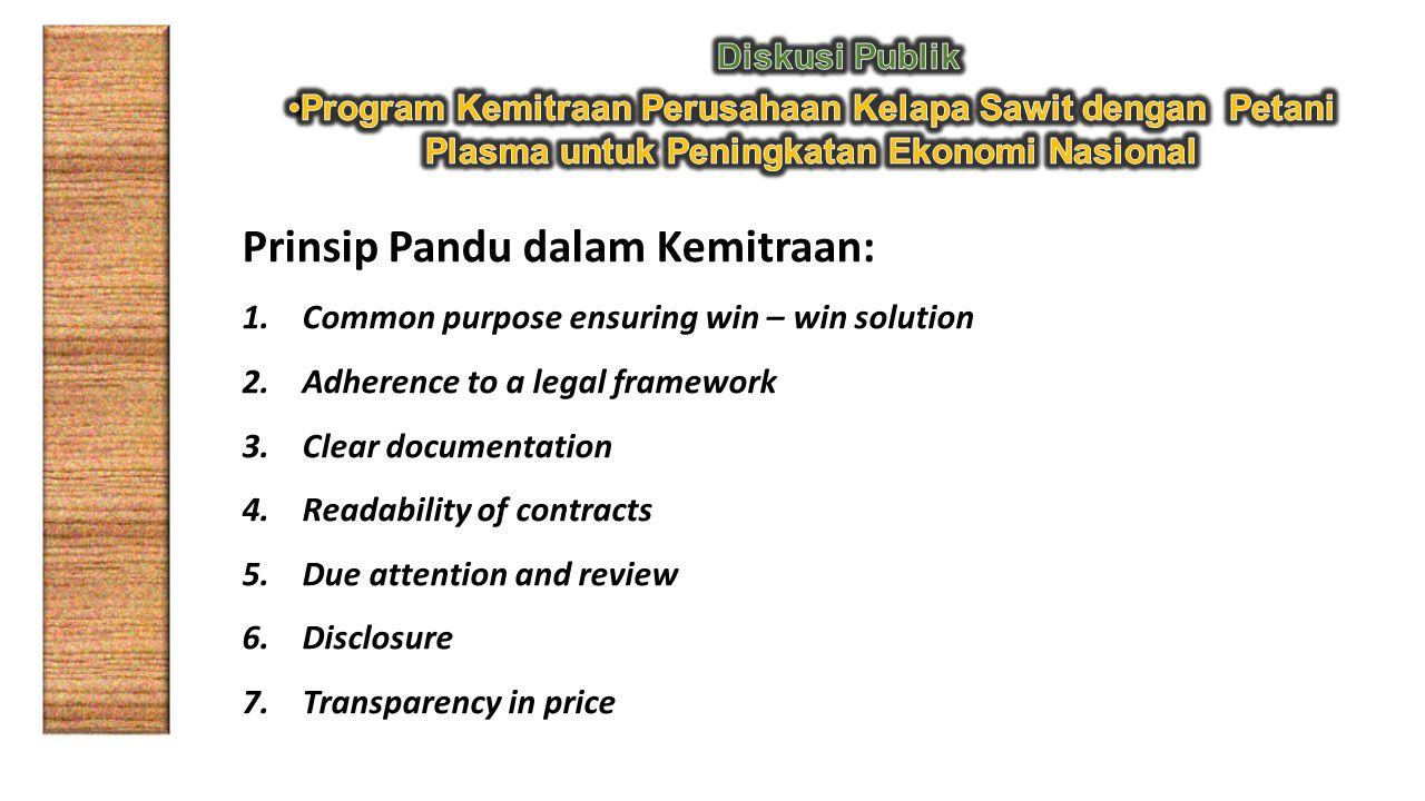 Prinsip Pandu dalam Kemitraan: