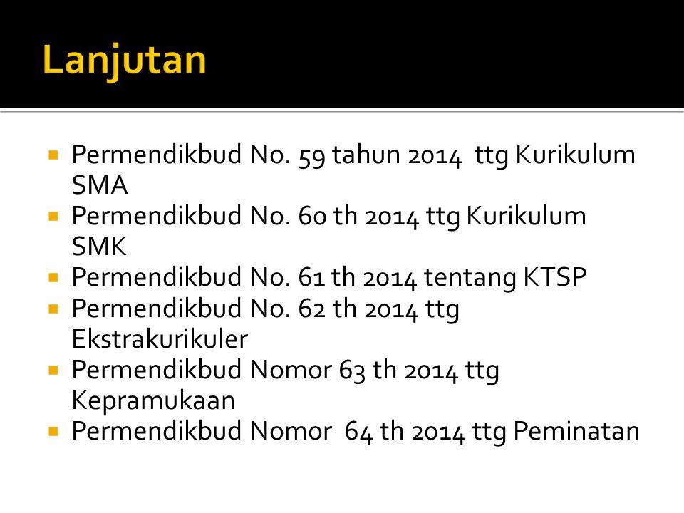 Lanjutan Permendikbud No. 59 tahun 2014 ttg Kurikulum SMA