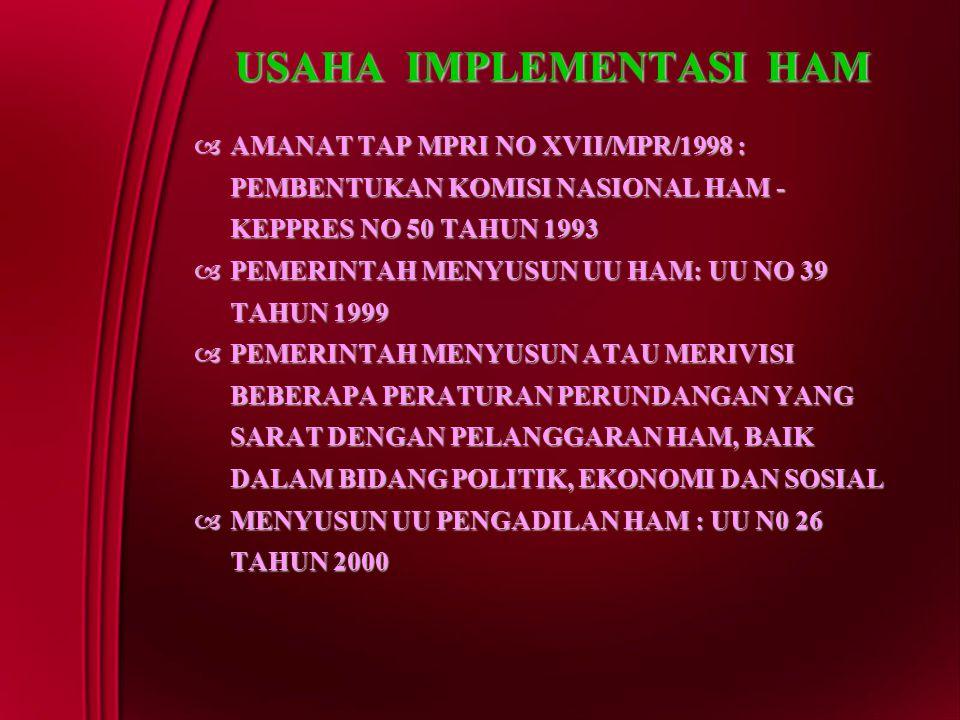 USAHA IMPLEMENTASI HAM