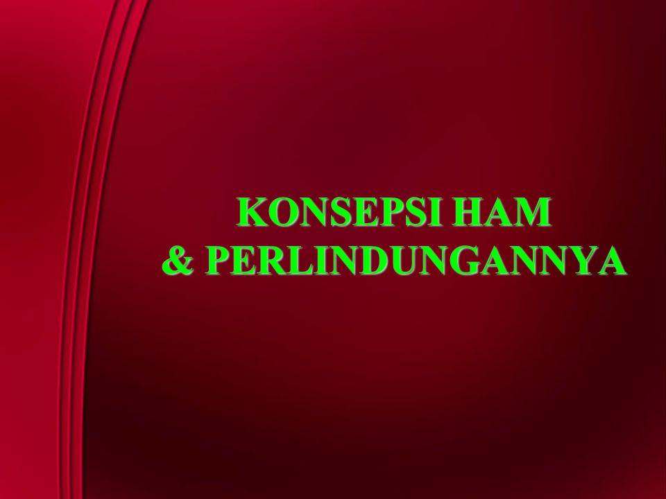 KONSEPSI HAM & PERLINDUNGANNYA