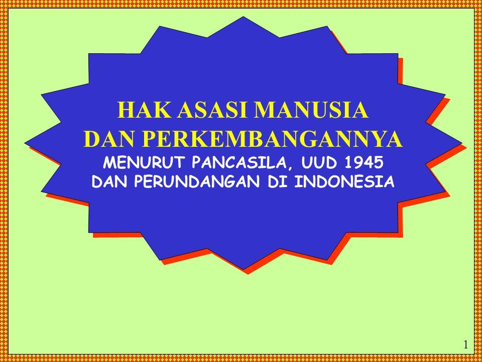 DAN PERUNDANGAN DI INDONESIA