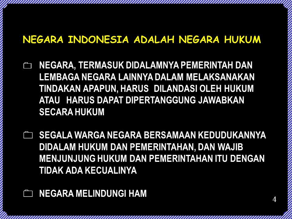 NEGARA INDONESIA ADALAH NEGARA HUKUM
