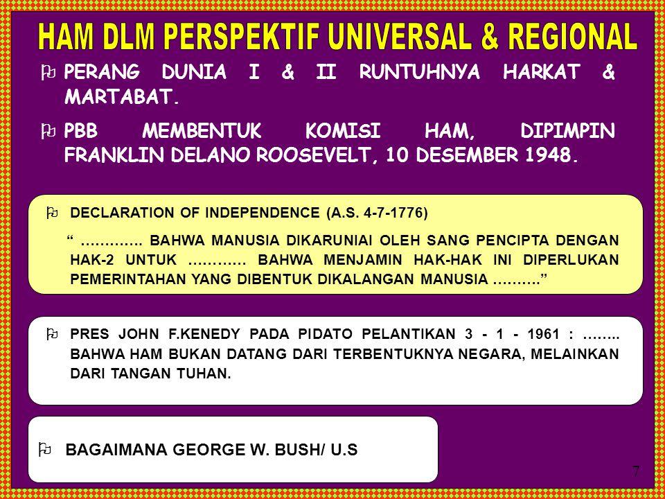 HAM DLM PERSPEKTIF UNIVERSAL & REGIONAL