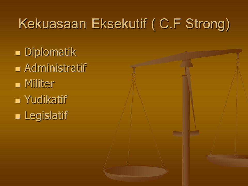 Kekuasaan Eksekutif ( C.F Strong)
