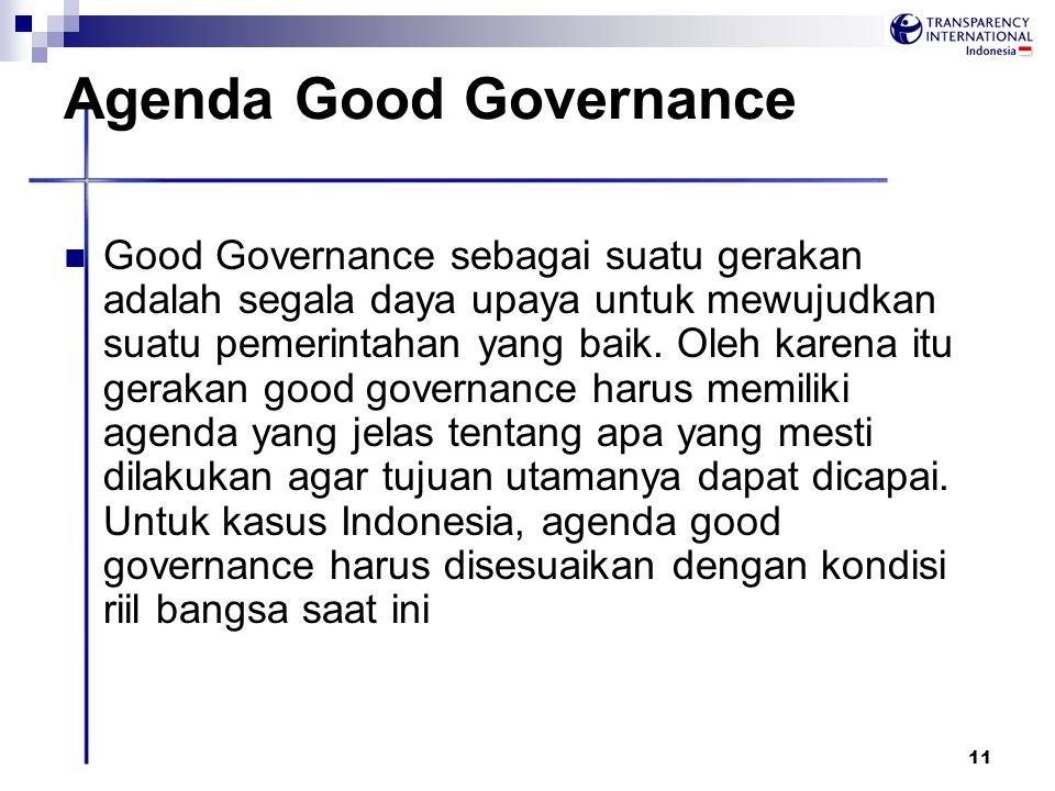 Agenda Good Governance