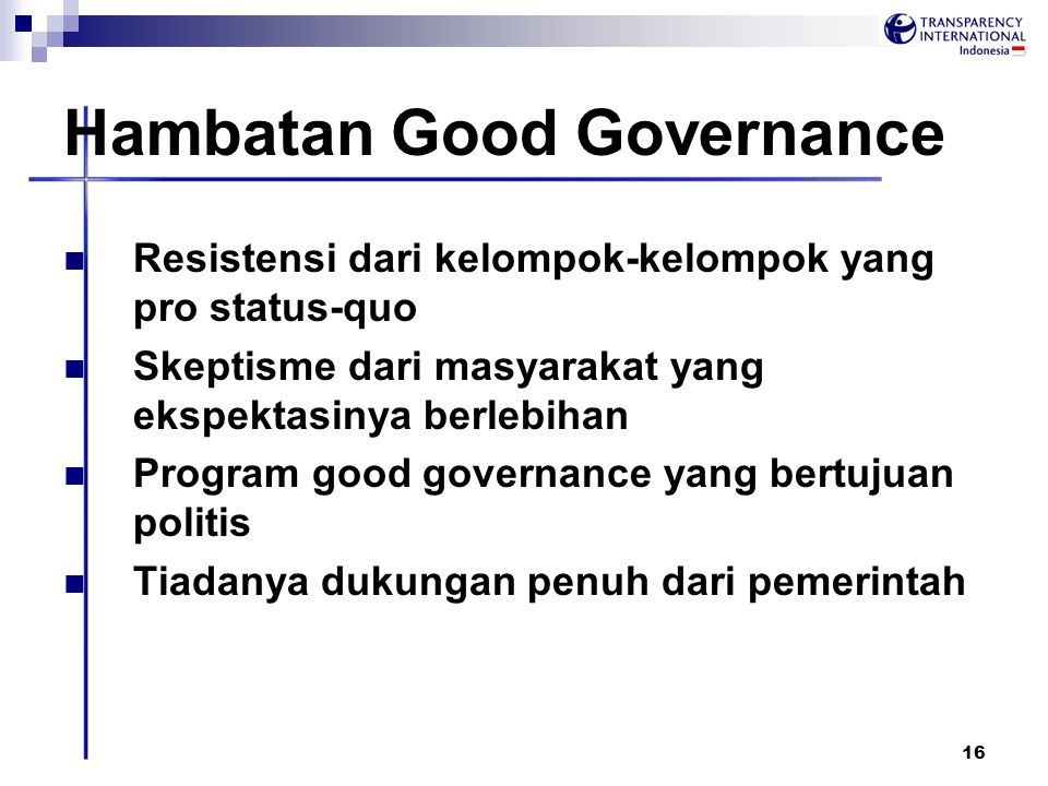 Hambatan Good Governance