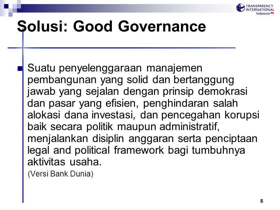 Solusi: Good Governance