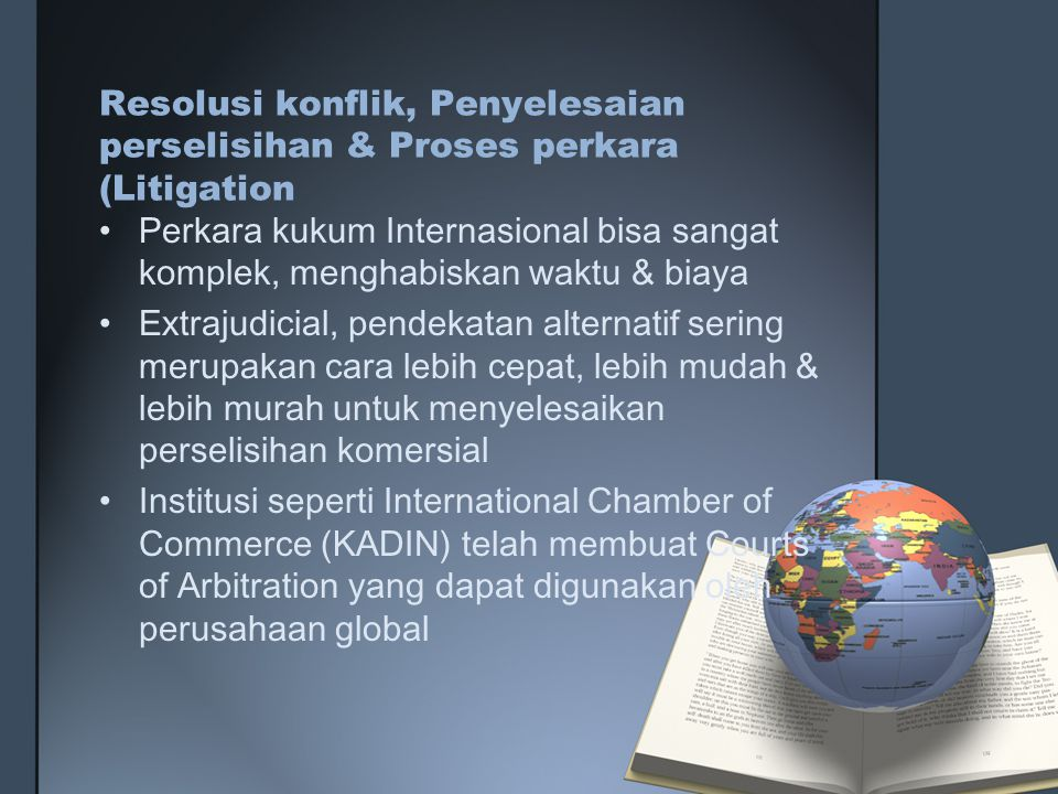 Resolusi konflik, Penyelesaian perselisihan & Proses perkara (Litigation