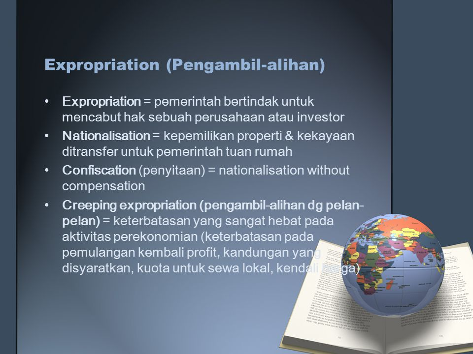Expropriation (Pengambil-alihan)