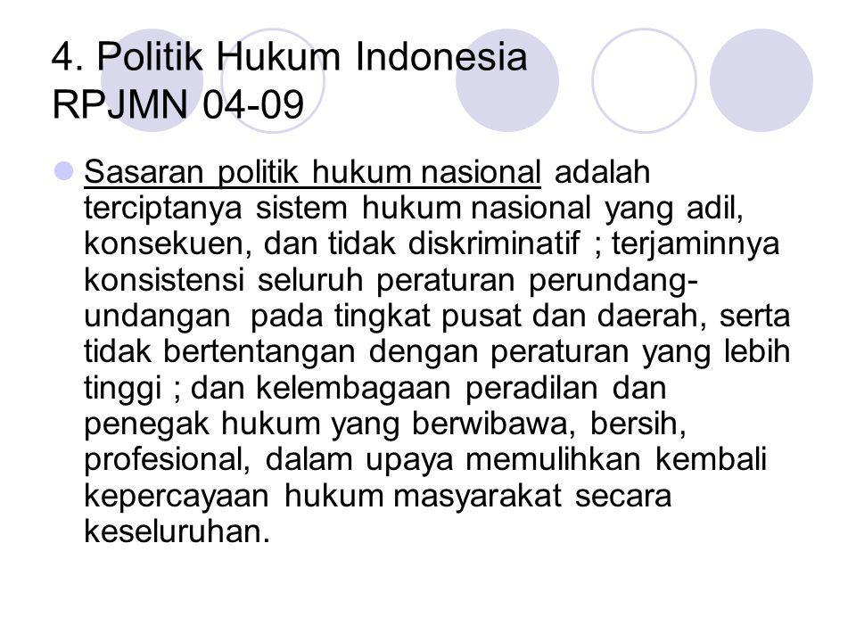 4. Politik Hukum Indonesia RPJMN 04-09
