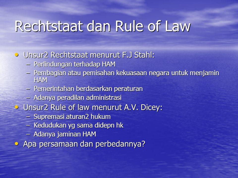 Rechtstaat dan Rule of Law