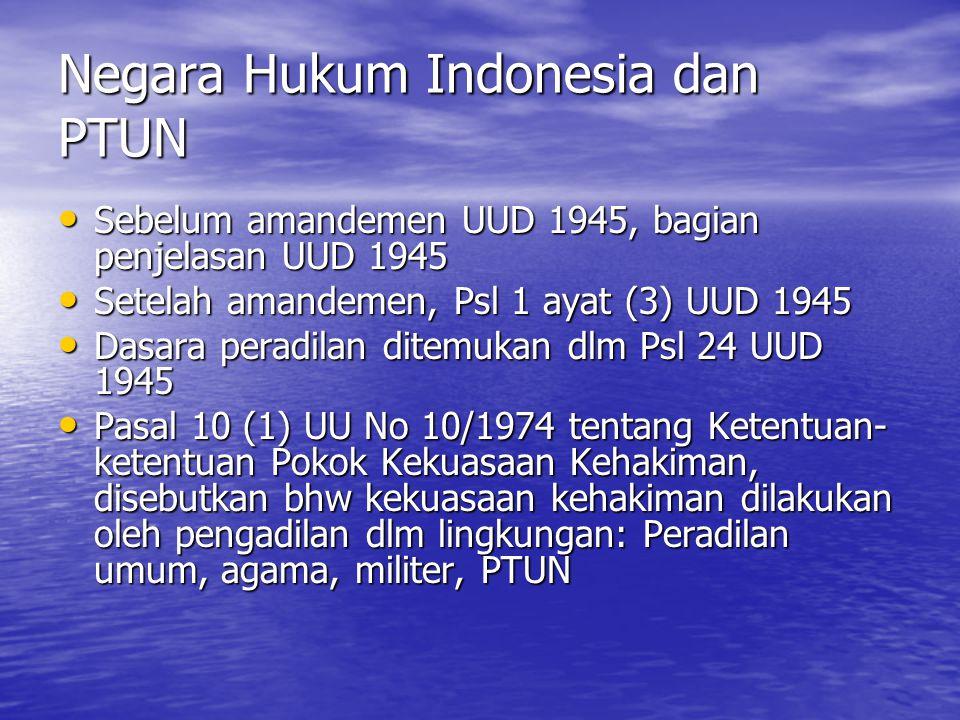 Negara Hukum Indonesia dan PTUN