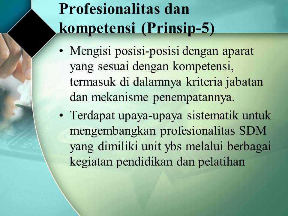 Profesionalitas dan kompetensi (Prinsip-5)