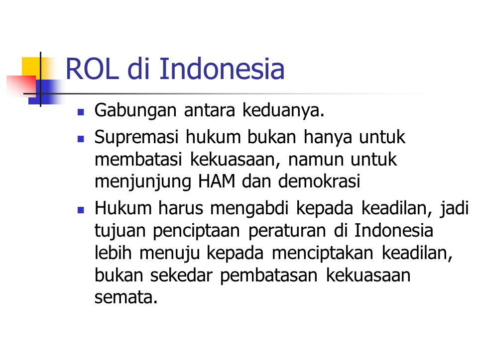 ROL di Indonesia Gabungan antara keduanya.