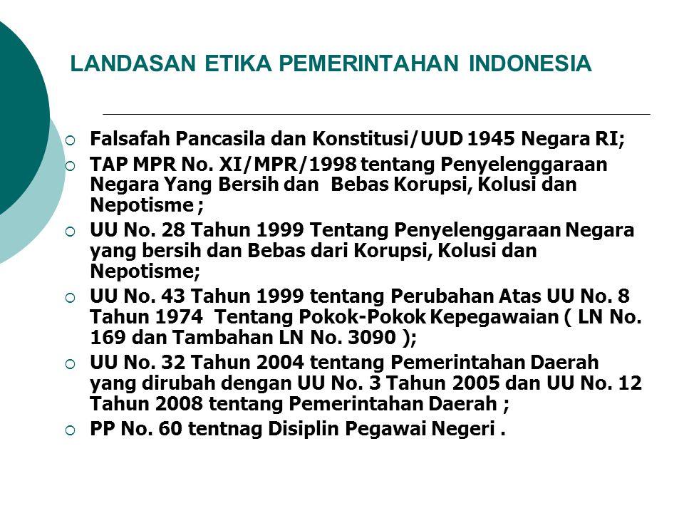 LANDASAN ETIKA PEMERINTAHAN INDONESIA