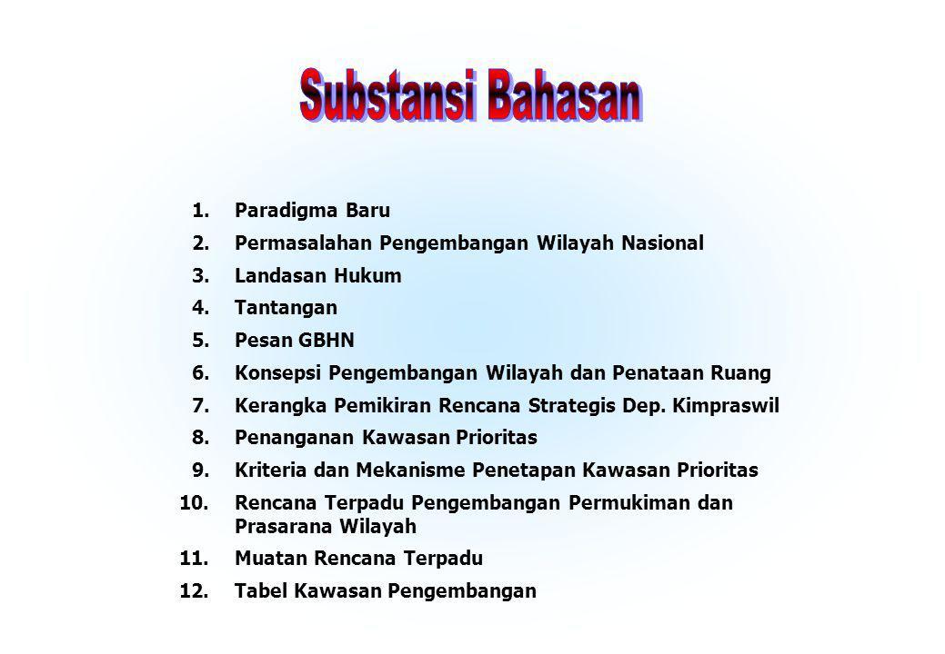 Substansi Bahasan 1. Paradigma Baru 2.
