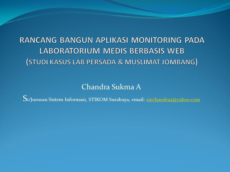 Rancang Bangun Aplikasi Monitoring Pada Laboratorium Medis Berbasis Web (Studi Kasus Lab Persada & Muslimat Jombang)