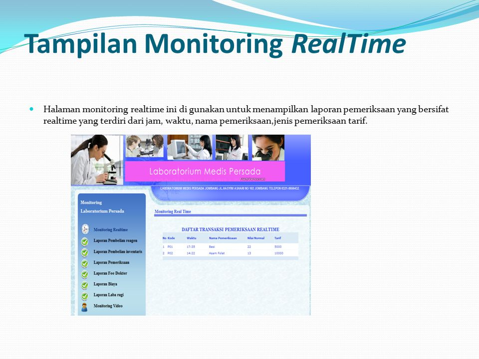 Tampilan Monitoring RealTime