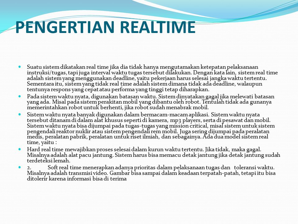 PENGERTIAN REALTIME