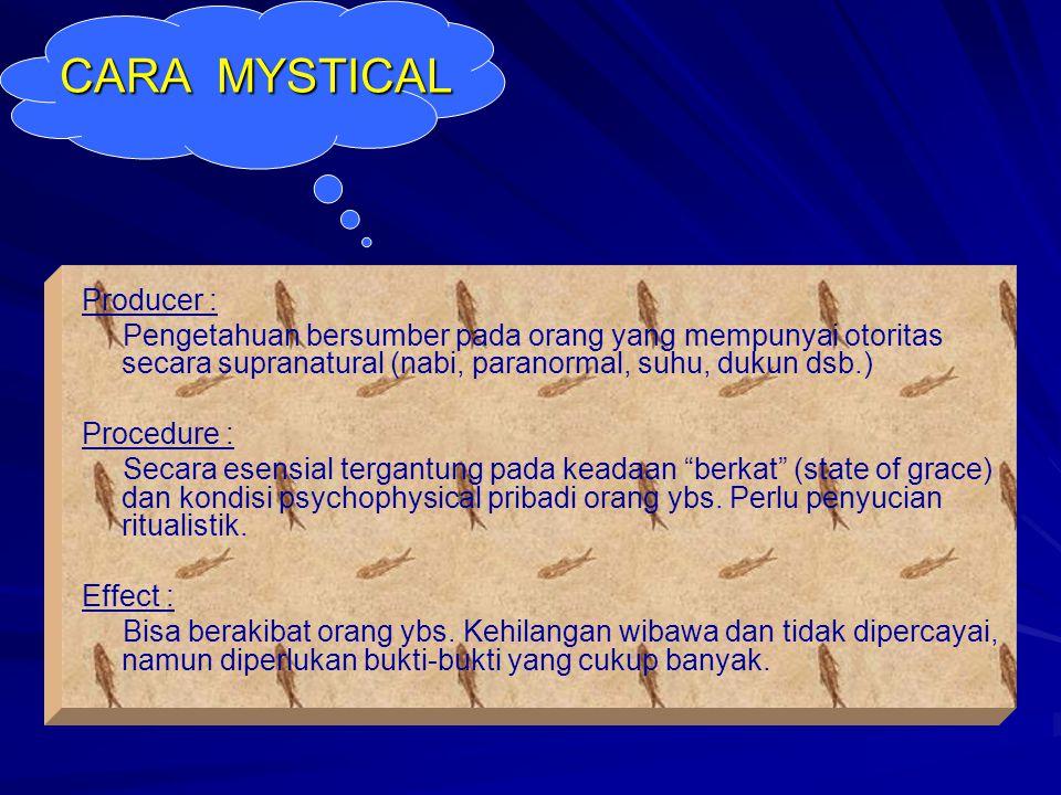 CARA MYSTICAL Producer :