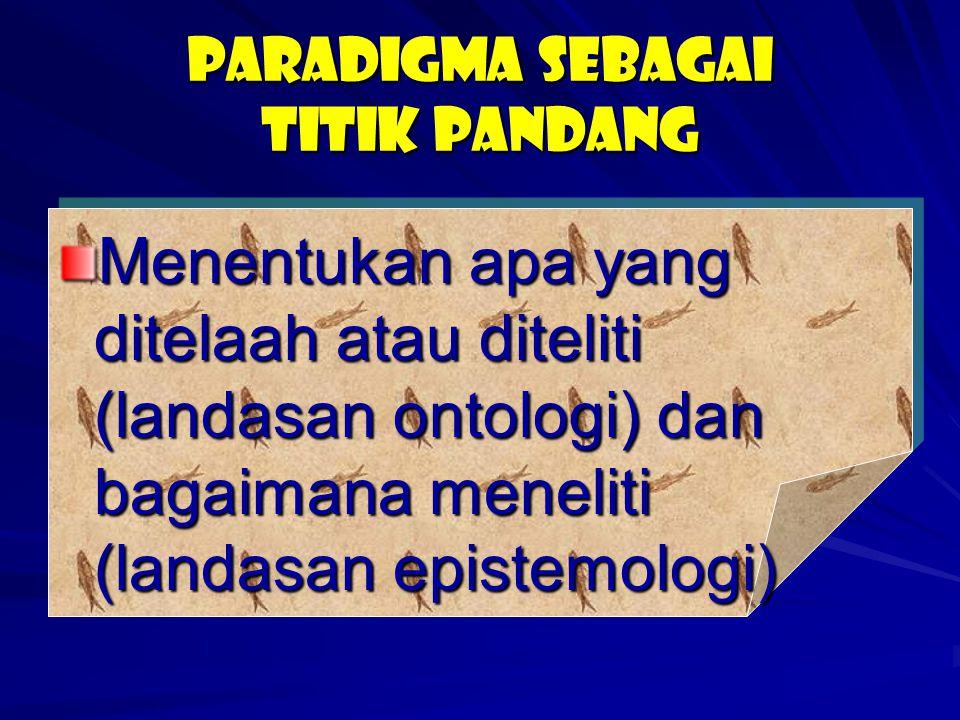 Paradigma sebagai titik pandang