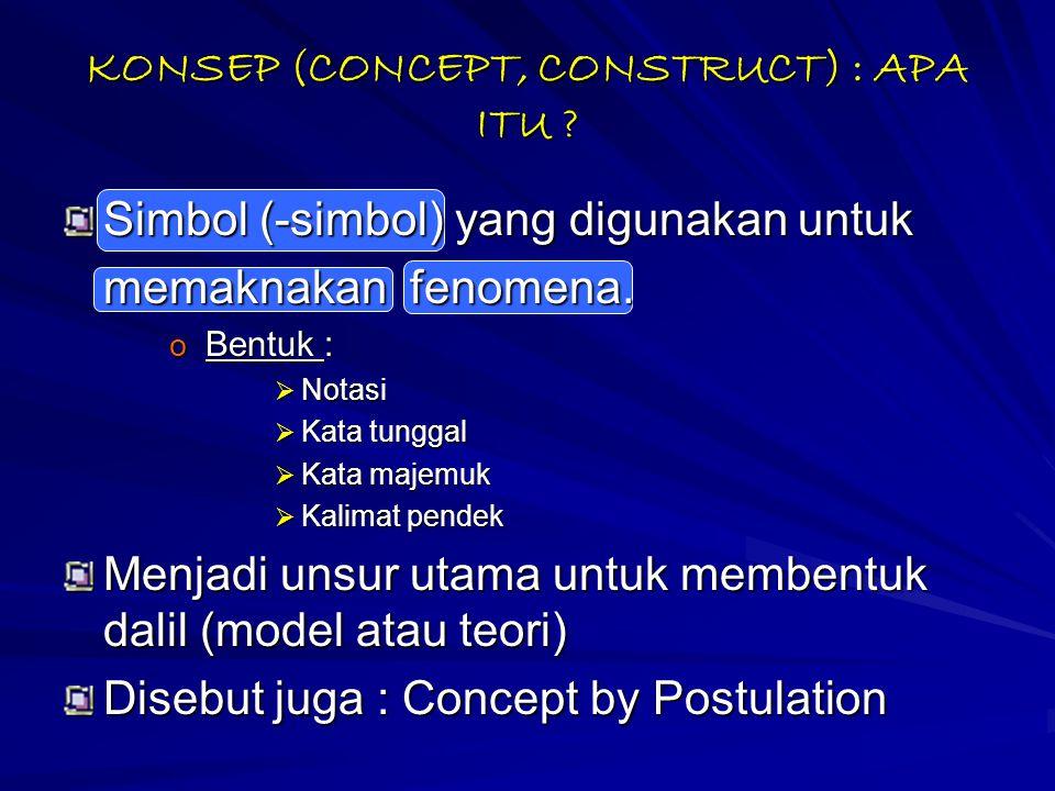 KONSEP (CONCEPT, CONSTRUCT) : APA ITU