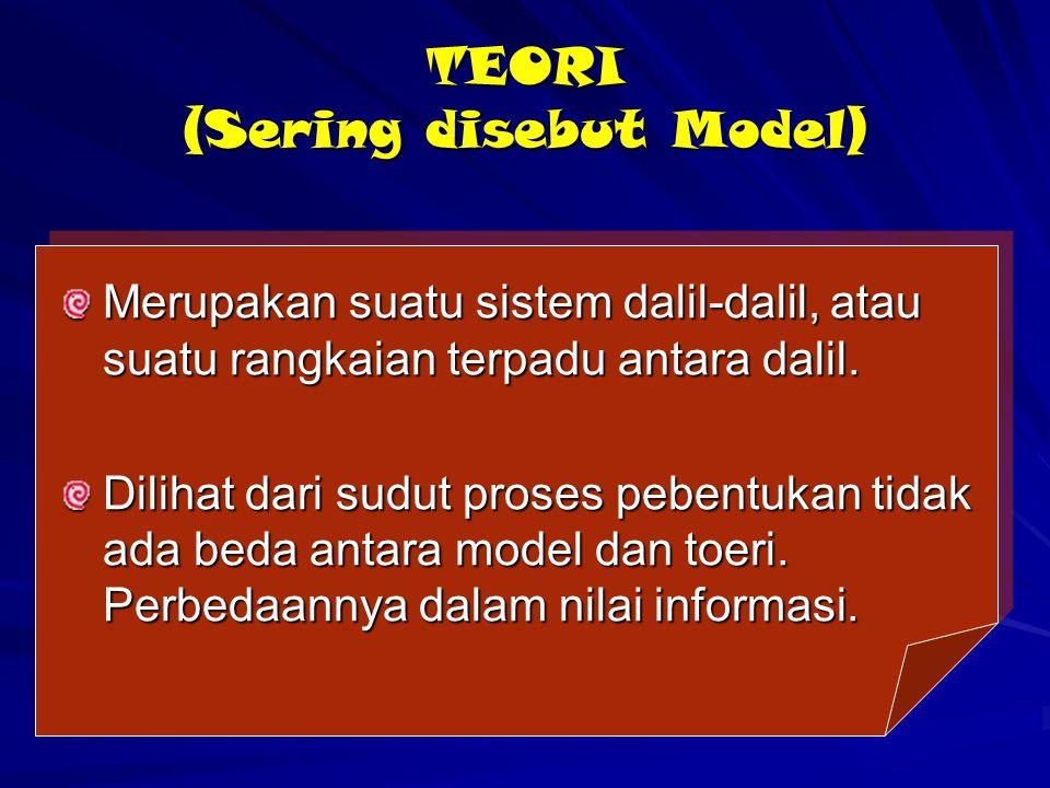 TEORI (Sering disebut Model)