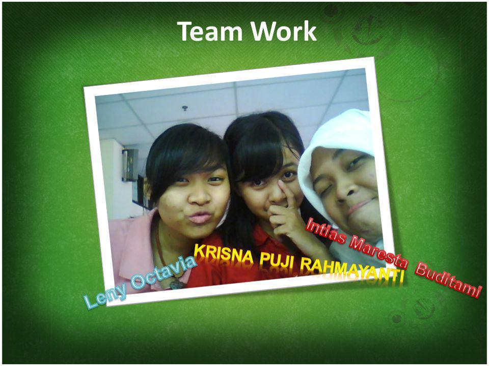 Team Work Krisna Puji Rahmayanti Intias Maresta Buditami Leny Octavia